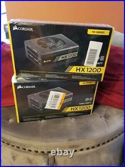 2 PACK Corsair HX1200 80 PLUS PLATINUM Certified 1200W Power Supply