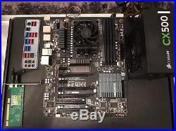 AMD FX motherboard bundle 16GB Corsair RAM + Corsair Power Supply 990FXA AM3+