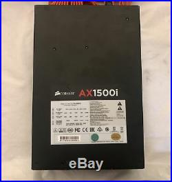AX1500i Digital ATX Power Supply 1500 Watt Fully-Modular PSU With Orange cables
