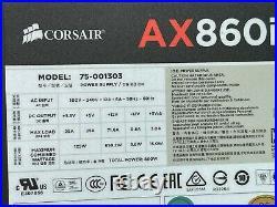 AX860i Digital ATX Power Supply 860 Watt 80 PLUS PLATINUM Certified Modular