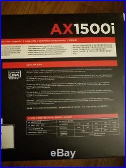 Brand New Corsair AXi Series, AX1500i, 1500 Watt PSU, ATX Modular Titanium