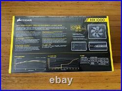 Brand New Corsair HX1000 1000W 80 Plus Platinum Modular Power Supply PSU
