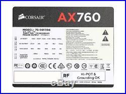 CORSAIR AX series AX760 760W ATX12V / EPS12V SLI Ready CrossFire Ready 80 PLUS P