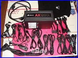 CORSAIR AX1200i 1200W 80 PLUS Platinum Power Supply Nocua Fan NF-A14 iPPC HH804