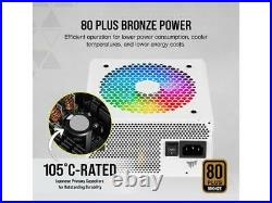 CORSAIR CX-F RGB Series CX650F RGB White 650W 80 PLUS Bronze Fully Modular ATX P