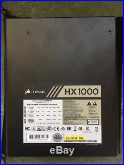 CORSAIR HX1000, 80+ PLATINUM 1000W, WITH WARRANTY Fully Modular