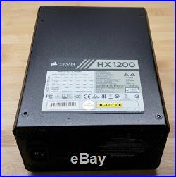 CORSAIR HX1200 1200 Watt 80+ Platinum Fully Modular Power Supply USED