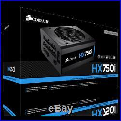 CORSAIR HXi Series HXi750 750W 80 PLUS PLATINUM PC Power Supply MOBO CPU