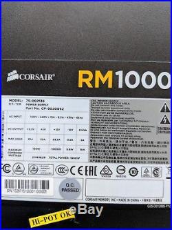 CORSAIR RM1000 Fully Modular Power Supply 80+ Gold ATX 1000 watt all cables