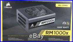 CORSAIR RM1000x, 1000 Watt, 80+ Gold Certified, Fully Modular Power Supply