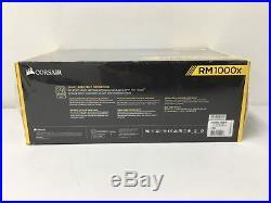 CORSAIR RM1000x 1000 Watt 80+ Gold Certified Fully Modular Power Supply New