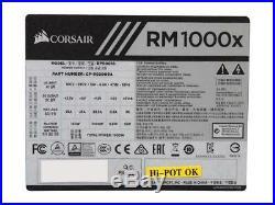 CORSAIR RM1000x 1000W 1000 Watt 80+ Gold Certified, Fully Modular Power Supply