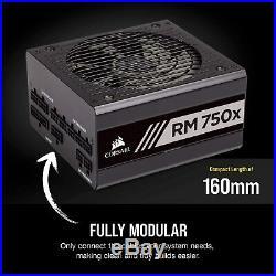 CORSAIR RMX Series RM750x 750 Watt 80+ Gold Certified Fully Modular Power Supply