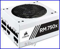 CORSAIR RMX White Series (2018), RM750x, 750 Watt, 80+ Gold Certified, Fully