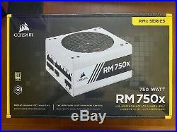 CORSAIR RMX White Series (2018), RM750x, 750 Watt, Fully Modular Power Supply