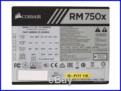 CORSAIR RMx RM750X 750W ATX12V / EPS12V 80 PLUS GOLD Certified Full Modular Nvid