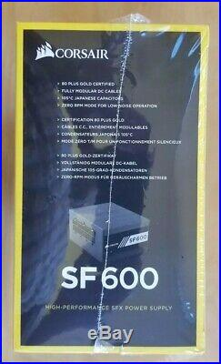 CORSAIR SF600 600W 80 PLUS GOLD Active PFC SFX12V Micro ATX Full Modular (SF600)