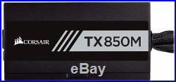 CORSAIR TXM Series, TX850M, 850 Watt, Semi Modular Power Supply, 80+ Gold