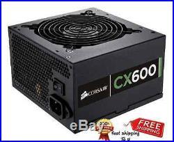 Computer Power Supply 600 Watt Bronze High Airflow Performance Low Noise Fan
