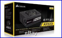 Corsair 1600W AX 80+ Titanium Digital Fully Modular 140mm FAN ATX PSU 10 Years