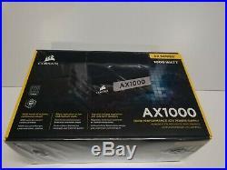 Corsair AX Series AX1000 1000 Watt 80 PLUS Titanium Certified Fully Modular A