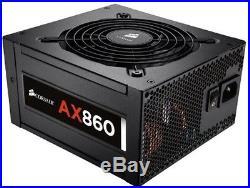 Corsair AX Series, AX860, 860 Watt (860W), Fully Modular Power Supply, 80+