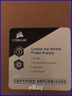 Corsair AX1200i, 1200 Watt PSU Fully Modular 1 YR WARRANTY (Refurbished) SEALED
