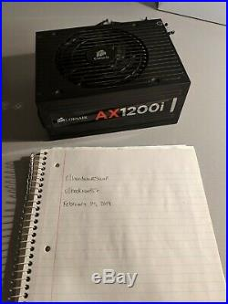 Corsair AX1200i Digital 80+ Platinum PSU withCableMod Black Full Cable Kit