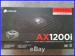 Corsair AX1200i Digital ATX Power Supply PSU (1200W 80 Plus PLATINUM) + Cables