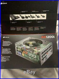 Corsair AX1200i professional series platinum digital ATX power supply NEW
