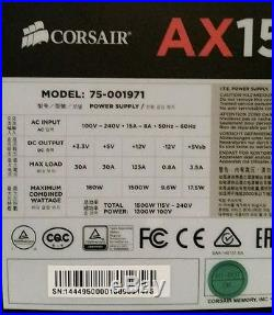 Corsair AX1500i Digital ATX 1500 Watt Fully-Modular Power Supply Excellent