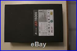 Corsair AX1500i Digital ATX Power Supply, 1500 Watt Fully-Modular PSU no reserve