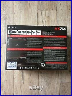 Corsair AX760 760 Watt 80 PLUS PLATINUM Certified Fully-Modular PSU (EU plug)