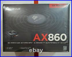 Corsair AX860 ATX Power Supply 860 Watt Fully Modular (BRAND NEW) (UNOPENED)