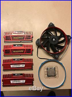 Corsair AX860i power supply, Corsair Neutron GTX SSD, 32GB Corsair memory, i7 CPU
