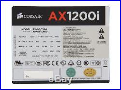 Corsair AXi Series, AX1200i, 1200 Watt (1200W), Fully Modular Digital Power 80+