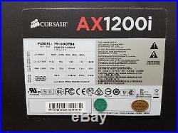 Corsair AXi Series, AX1200i, Fully Modular INC. RED SLEEVE + ORIGINAL CABLES