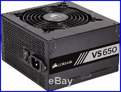 Corsair CP-9020098-UK VS Series ATX/EPS 80 PLUS Power Supply PSU Unit, 650 W UK