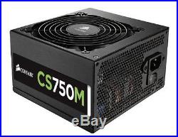 Corsair CS Series, CS750M, 750 Watt 750W, Semi Modular Power Supply, 80+ Gold