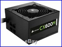 Corsair CX600M 600W watt 80 PLUS Bronze ATX Modular Power Supply PSU