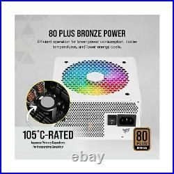 Corsair CX650F RGB, 650 Watt, 80 Plus Bronze, Fully Modular RGB White Power S