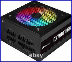 Corsair CX750F RGB 80 PLUS Bronze Fully Modular ATX Power Supply 750With