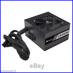 Corsair Cx650m 650w 80+ Quiet Atx Modular Power Supply Unit 54a, 6+2 Pci-e