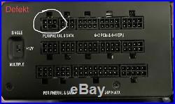 Corsair HX1000 PC-Netzteil 80+ Platinym Modular 1000W mit klein Defekt