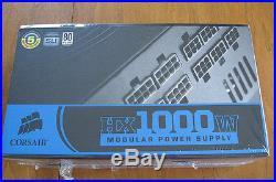 Corsair HX1000W Modular Power Supply New Unopened