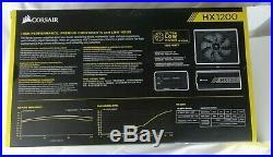Corsair HX1200 1200 Watt 80 PLUS PLATINUM PSU almost brand new with box