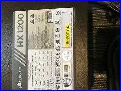 Corsair HX1200 1200W ATX12V PLATINUM Certified Full Modular Power Supply USED