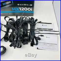 Corsair HX1200i 1200W Modular 80+ Platinum Gaming Power Supply Excellent Cond