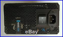 Corsair HX1200i 1200W Platinum Fully Modular Power Supply PSU 2 broken clips