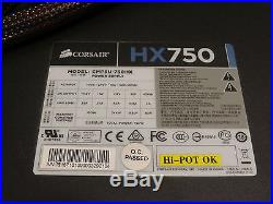 Corsair HX750 750W 24-Pin ATX Power Supply AS-IS